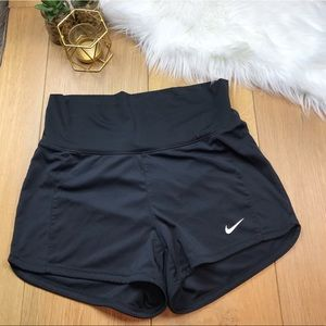 Nike Dri Fit Black High Waisted Shorts #743